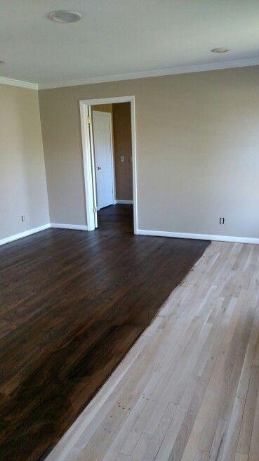 Dark Oak Floors Minwax Espresso 75 And Ebony 25 On White