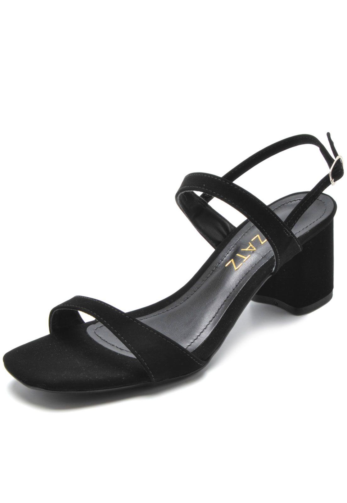 Sandálias Zatz de mulher sapatos salto alto lindos , compare