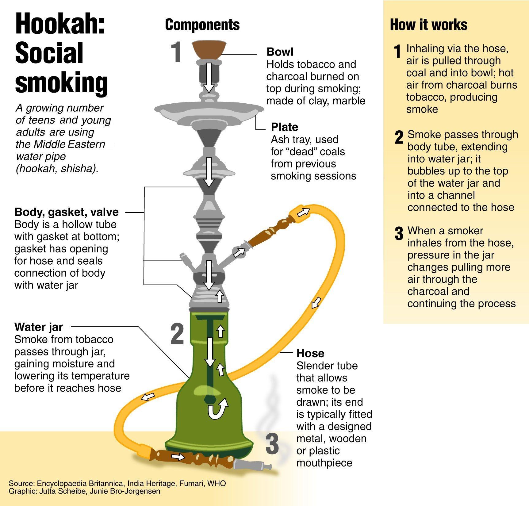 Hookah Diagram! Come to Lux Lounge in West Bloomfield, MI