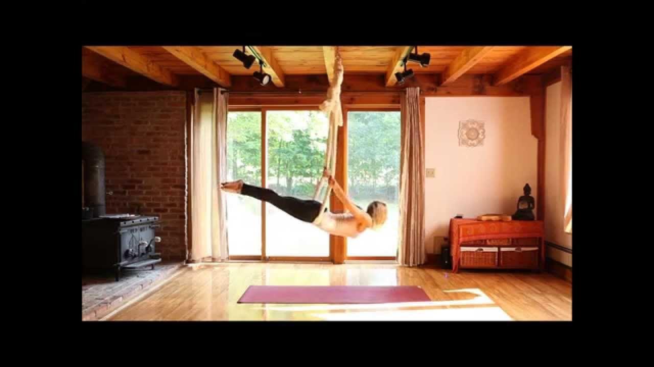 Aerial yoga silk hammock with karlene murphy total wellbeing