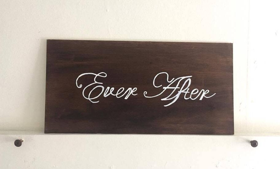 Rustic Ever After Wood Sign by ResourceDesignInc on Etsy