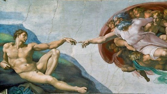 'The Creation Of Adam Painting' Poster by jimmywatt