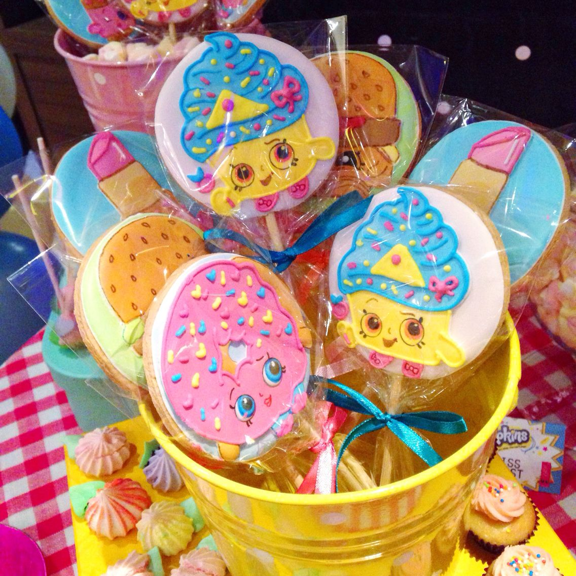 Ideas Para Decorar Galletas Shopkins Party 43 Birthday Cookie Decorating Pinterest
