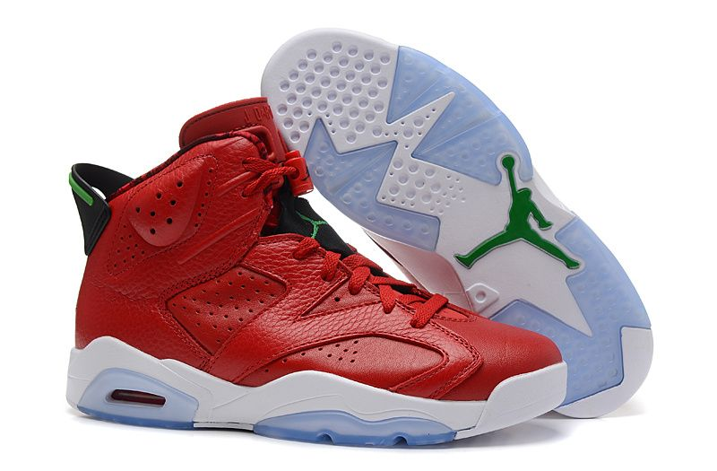 "b1486e8832 Air Jordan 6 (VI) Retro ""MVP History of Jordan"" Red Leather Green ..."