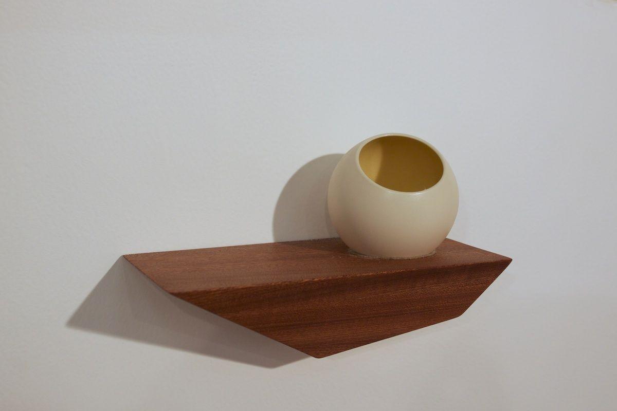 David Hsu Design | Small Sapele Peliship (Special Edition) with Small Amber Orchard Pot