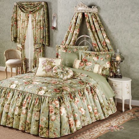 Do you like princess ruffled bedding in floral style?