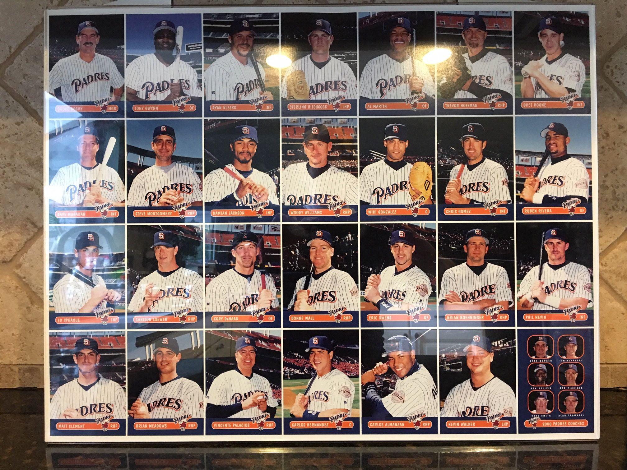 San Diego Padres Keebler Promotional Sheet Of Uncut Baseball Cards