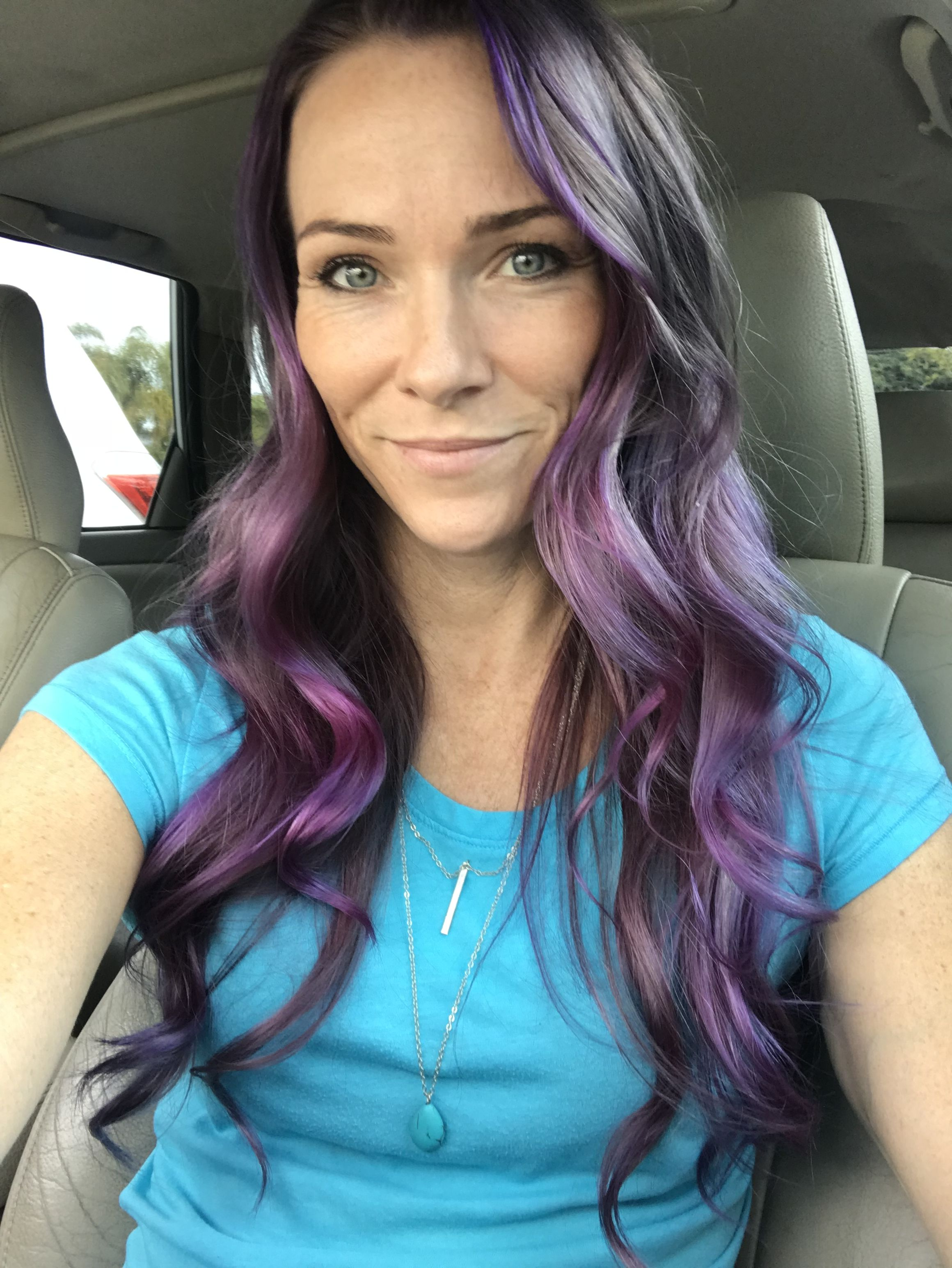 Manic panic purple haze slightly diluted with conditioner on natural