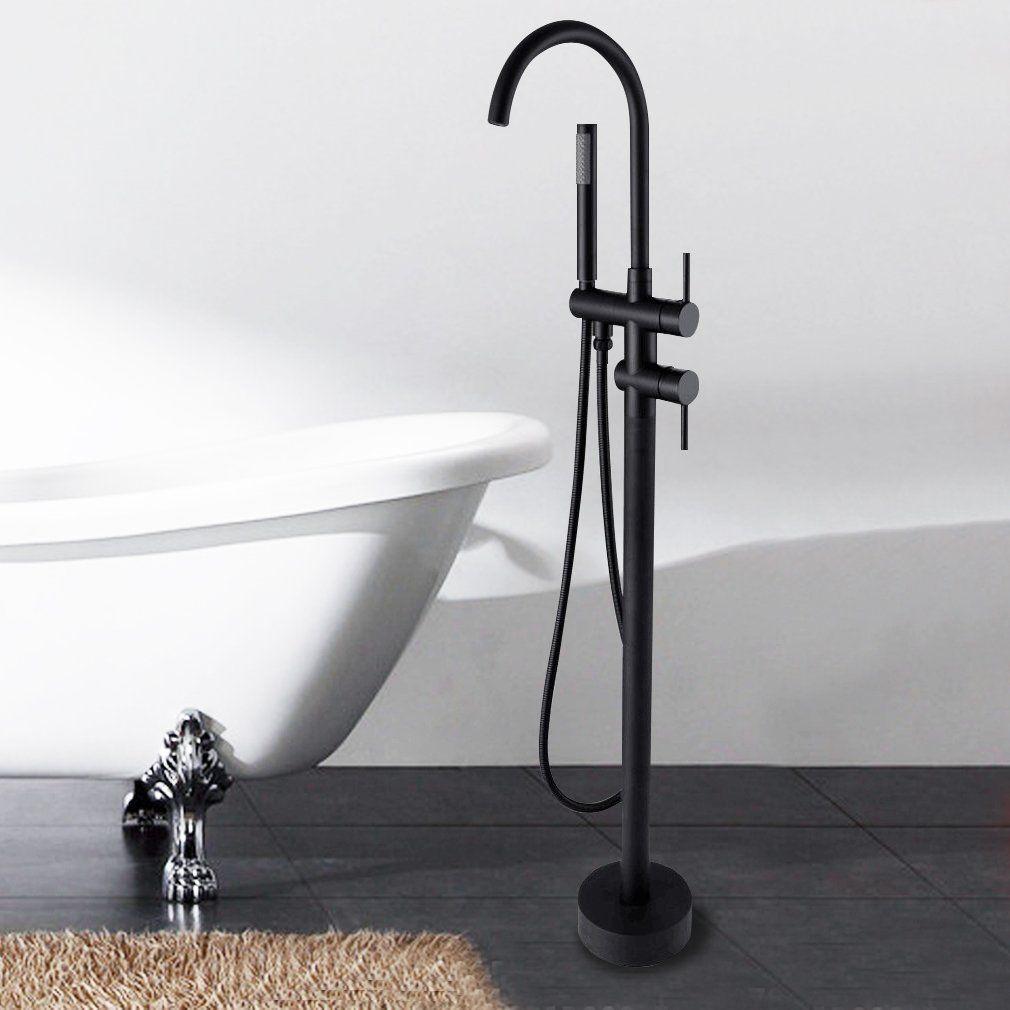 Sprinkle Floor Mounted Freestanding Tub Faucet Single Handle