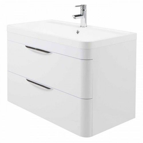 Wall Mounted Basin And Cabinet Draw X Mm Brand Premier - Premier bathroom collection