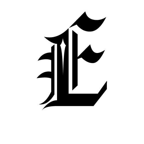 El tatuaje en la escritura gótica de algunas letras frase, palabra, lema o simplemente o iniciales t...