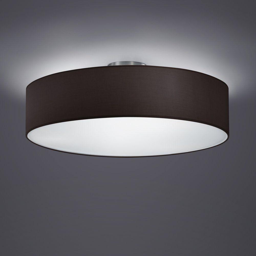 plafonnier d coratif avec abat jour en tissu noir pour l. Black Bedroom Furniture Sets. Home Design Ideas