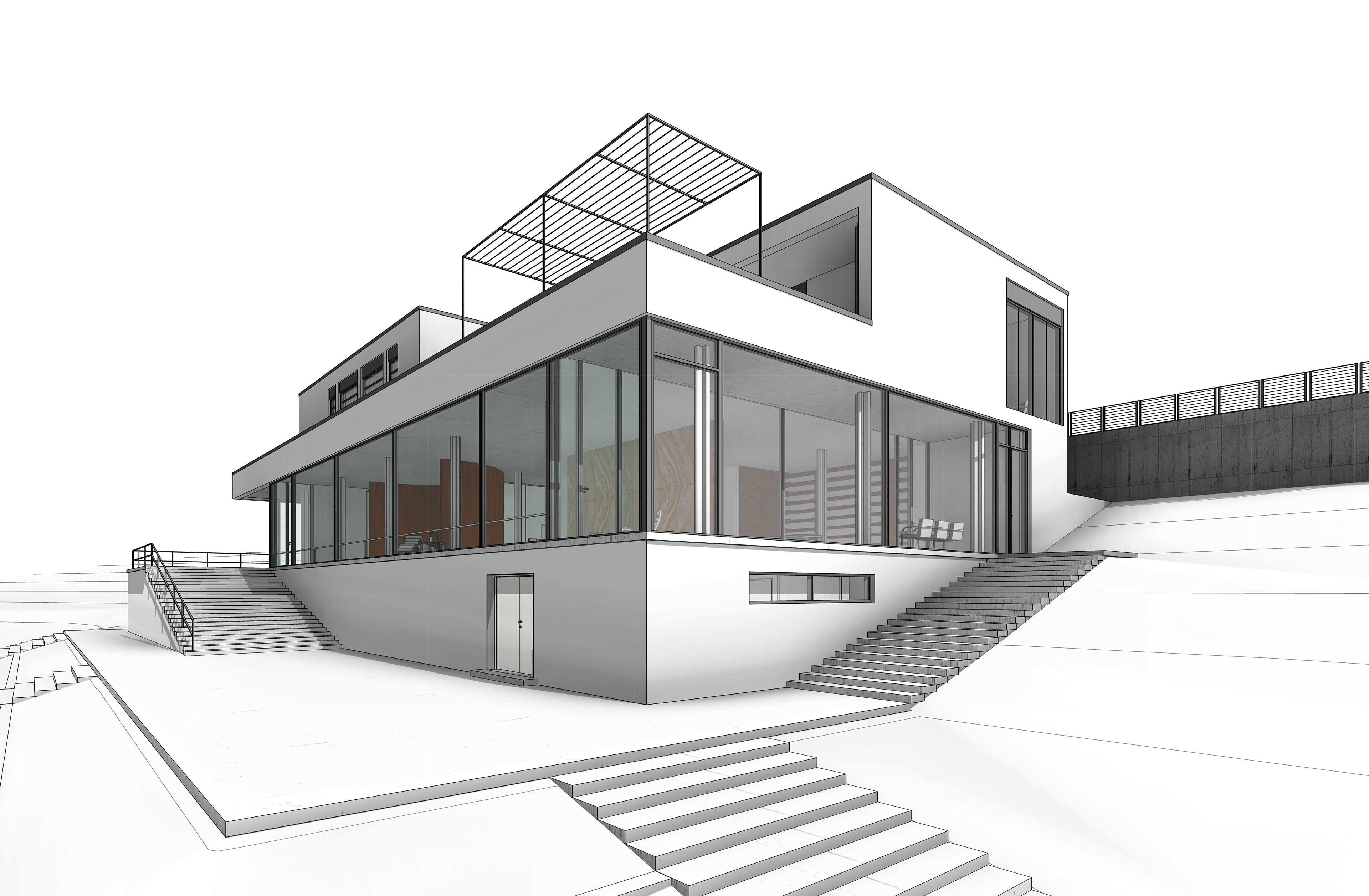 Revit training villa tugendhat tugendhat pinterest for Revit architecture modern house design