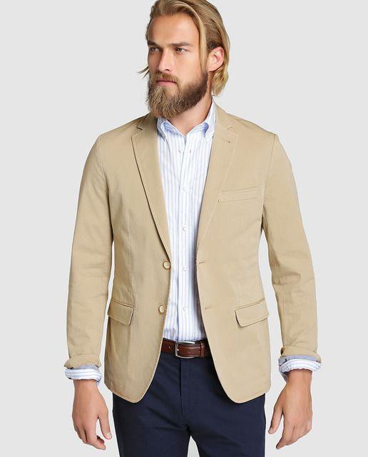 b357a32bc Americana de hombre Arrow lisa beige | FASHION | Moda ropa hombre ...