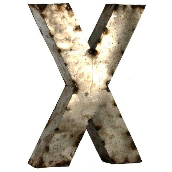 Metal Letter X Small Metal Letters Rustic Metal Rustic French