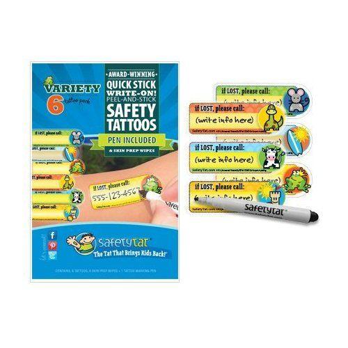 SafetyTat Child ID Tattoos (Multi-Design 6pk)