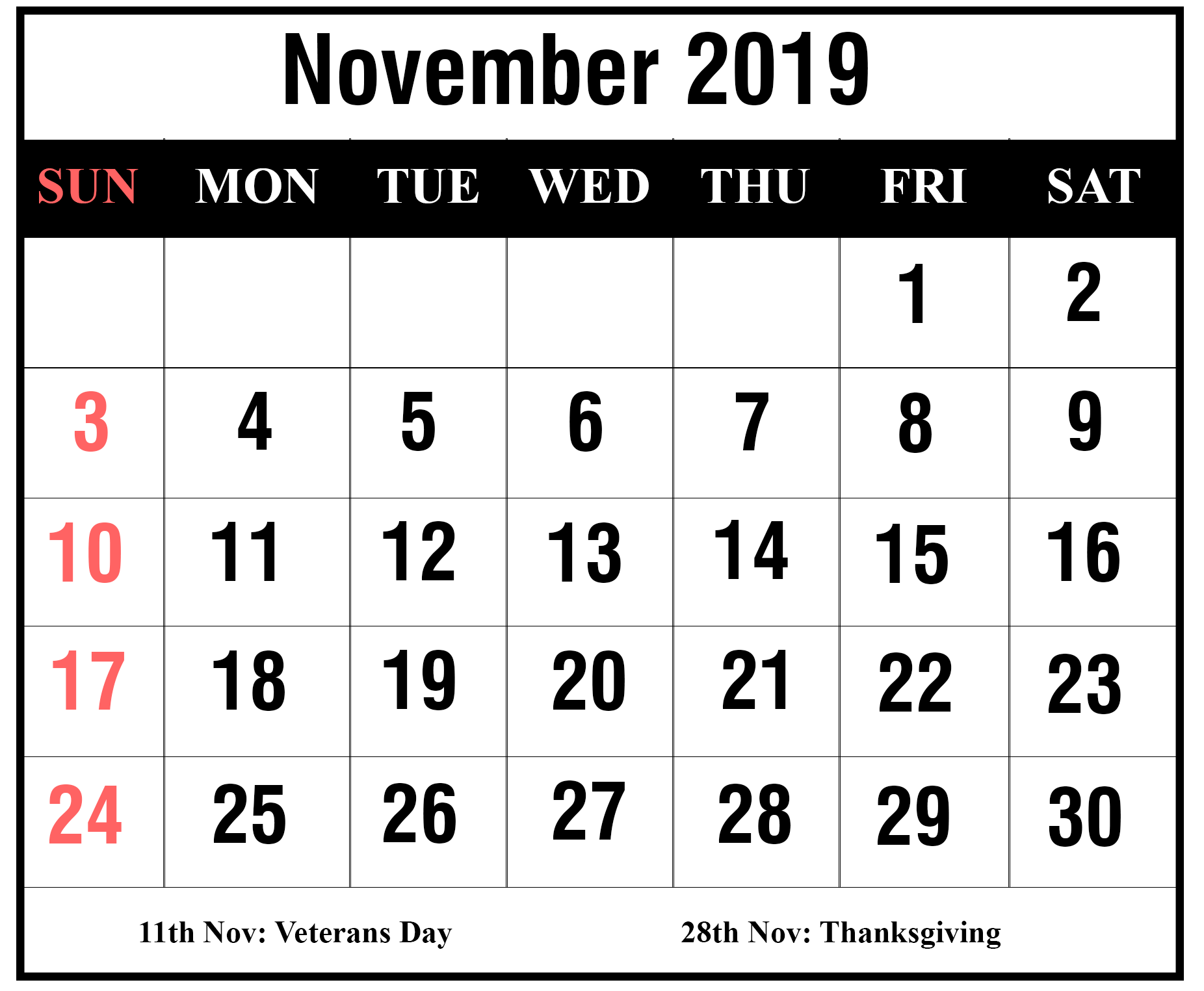 picture regarding Printable Wiki called How In the direction of Plan Your Thirty day period With November 2019 Printable