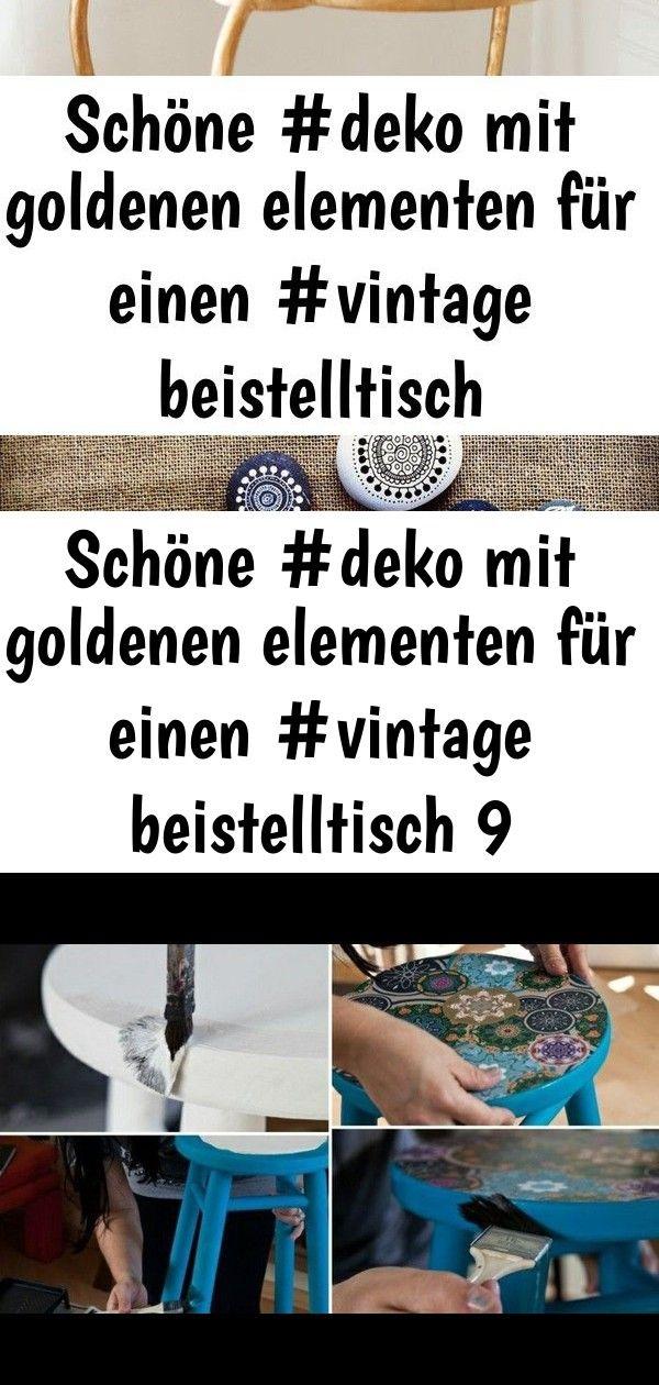 Schöne #deko mit goldenen elementen für einen #vintage beistelltisch 9 #steinebemalenanleitung