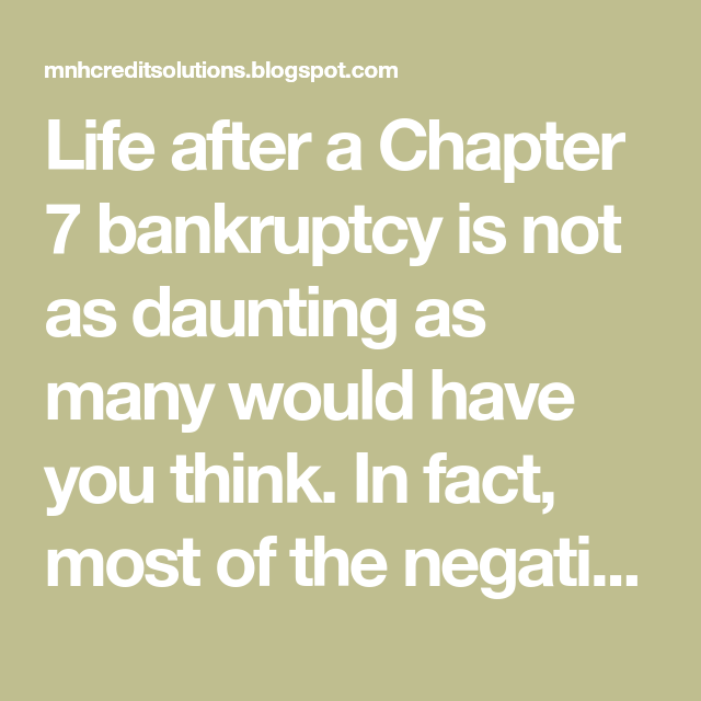 after chapter 7 bankruptcy