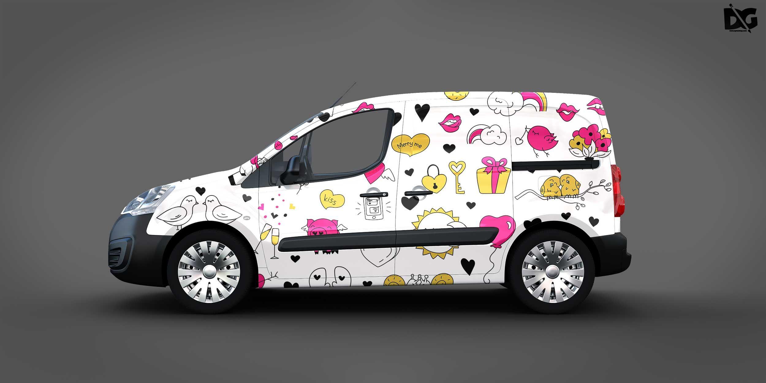 Free Mock Up Delivery Van Logo Design Mockup Free Logo Mockup