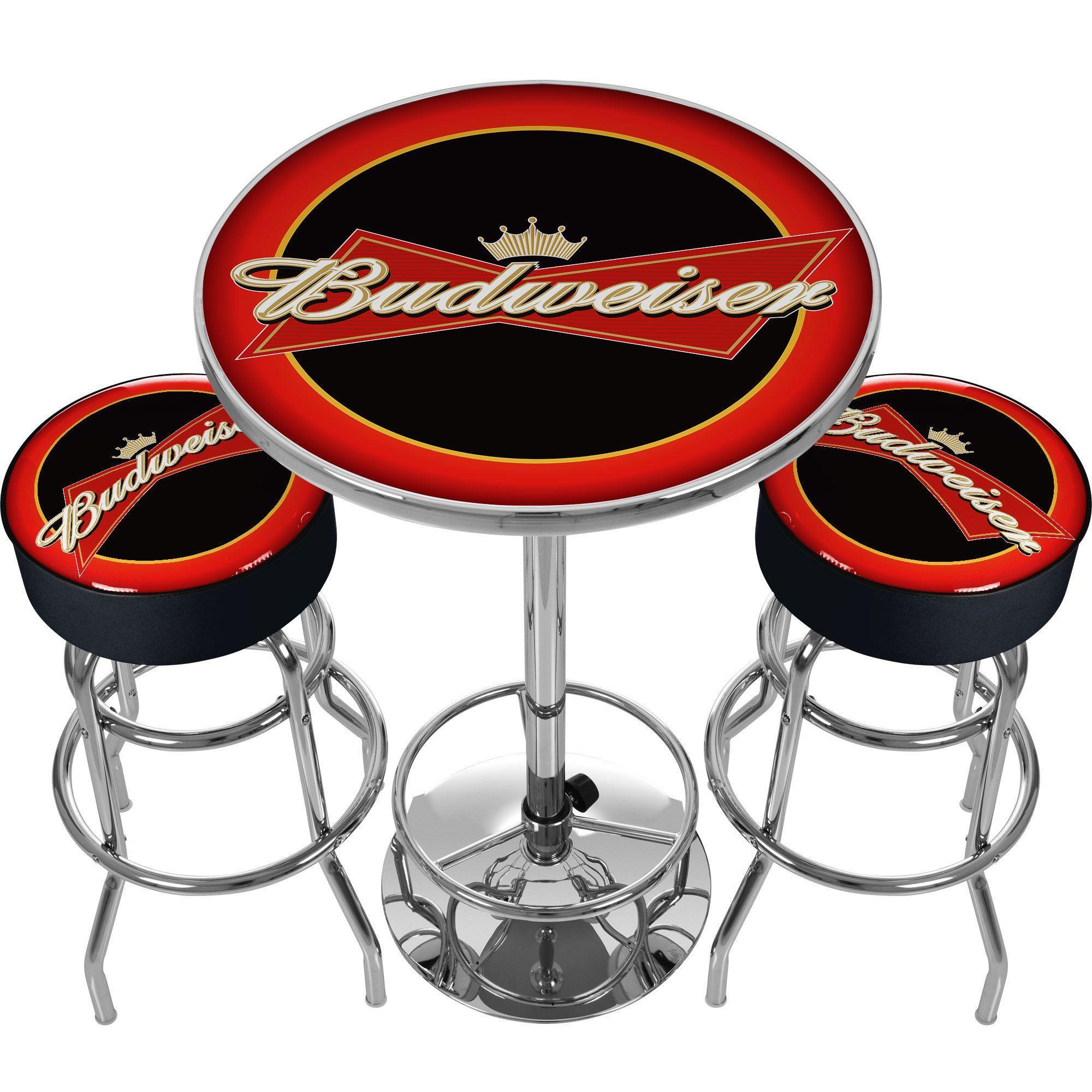 Ultimate budweiser gameroom combo 2 bar stools and table ultimate budweiser gameroom combo 2 bar stools and table watchthetrailerfo