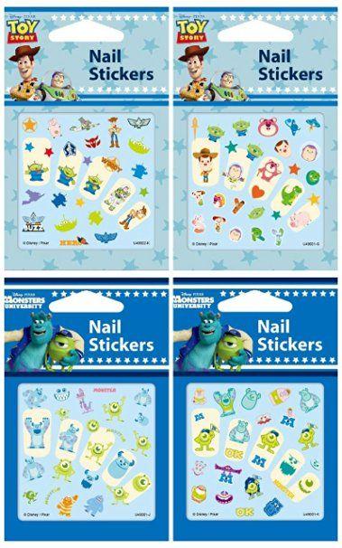 Amazon.com : Disney Nail Art stickers Decoration Cartoon Nail Decals Assorted 4…