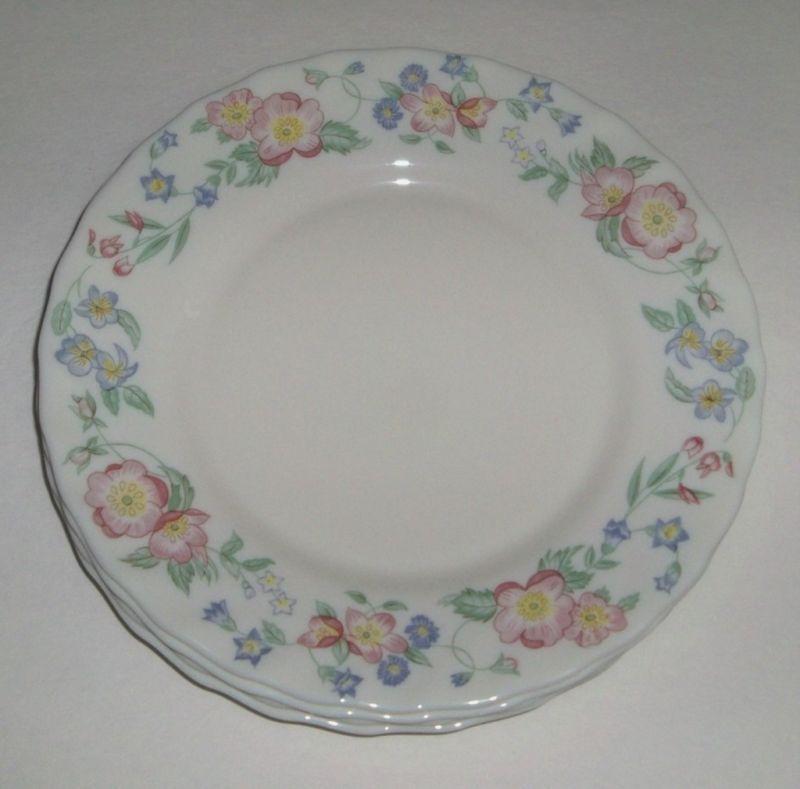 4 Arcopal France Champetre Pink Flowers Salad Plates ...