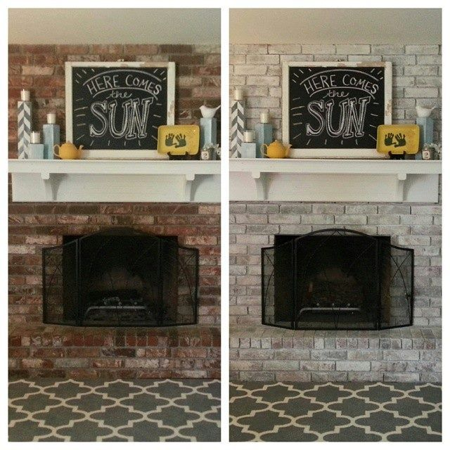 Don T Like Your Dark Red Fireplace White Wash The Brick Super