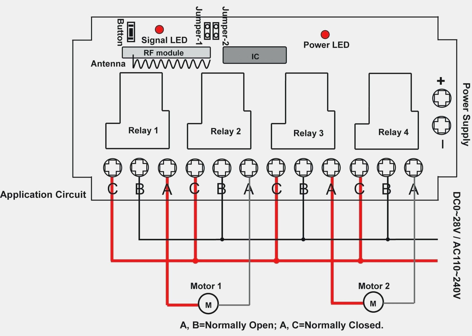New Auto Gate Motor Wiring Diagram
