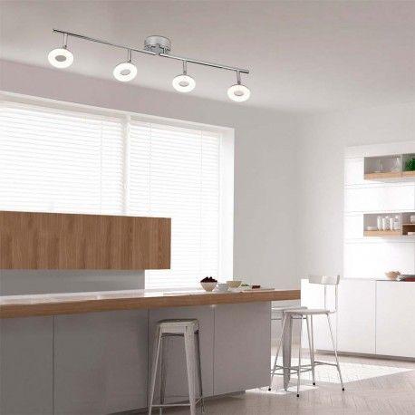 Regleta Compuesta Por Cuatro Puntos De Luz Led Minimo Consumo Y Maxima Eficiencia Energetica Diseno De Las Luces En Forma De Focos Regletas Cocinas Modernas