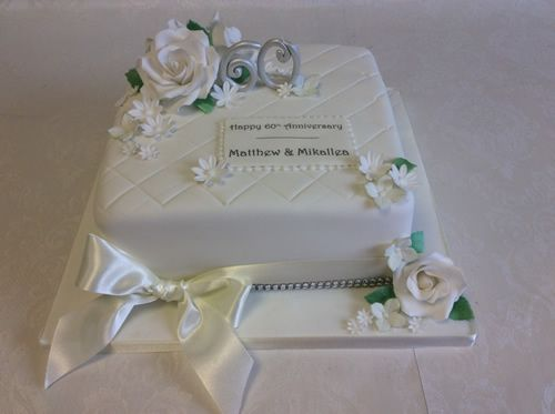 60th anniversary with vintage flowers cakes pinterest wedding anniversary cakes. Black Bedroom Furniture Sets. Home Design Ideas