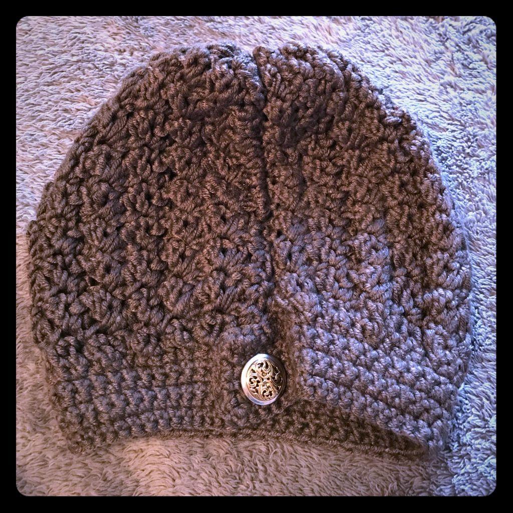 Large Slouchy Brown Handmade Beanie Hat