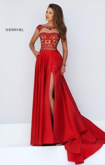 Vestidos para fiesta de noche en color rojo