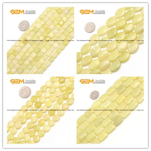 Aliexpress.com : Buy Lemon Jade Stone Beads Coin Square Oval Rectangle Beads Natural Stone Beads Jewelry Jewellery Making Diy Bracelet Free Shipping from Reliable jewelry bracelet display suppliers on GEM-inside    Alibaba Group