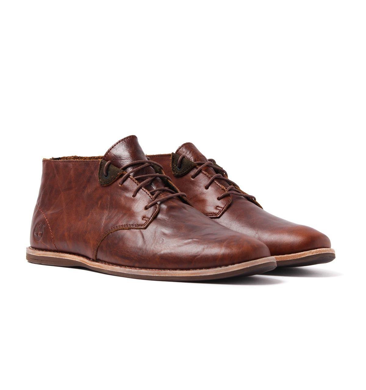 Timberland Revenia Dark Sudan Brown Leather Chukka Boots