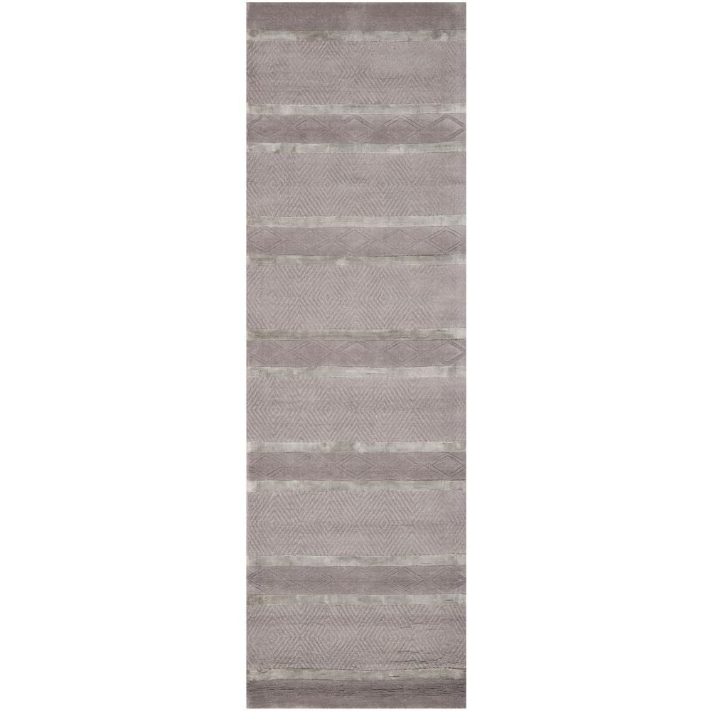 Soho Light Grey 2 ft. 6 in. x 12 ft. Runner
