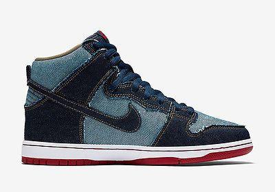 f3d675177331 Men 159070  Nike Sb Dunk High Trd Qs Denim Midnight Navy Midnight Navy  Shoes -