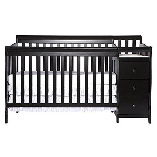 Dream On Me 5 In 1 Brody Convertible Crib With Changer Black Cribs Convertible Crib Black Crib
