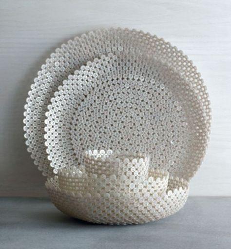 button trays and bowls accessories better living through design - Fantastisch Schussel Aus Knpfen