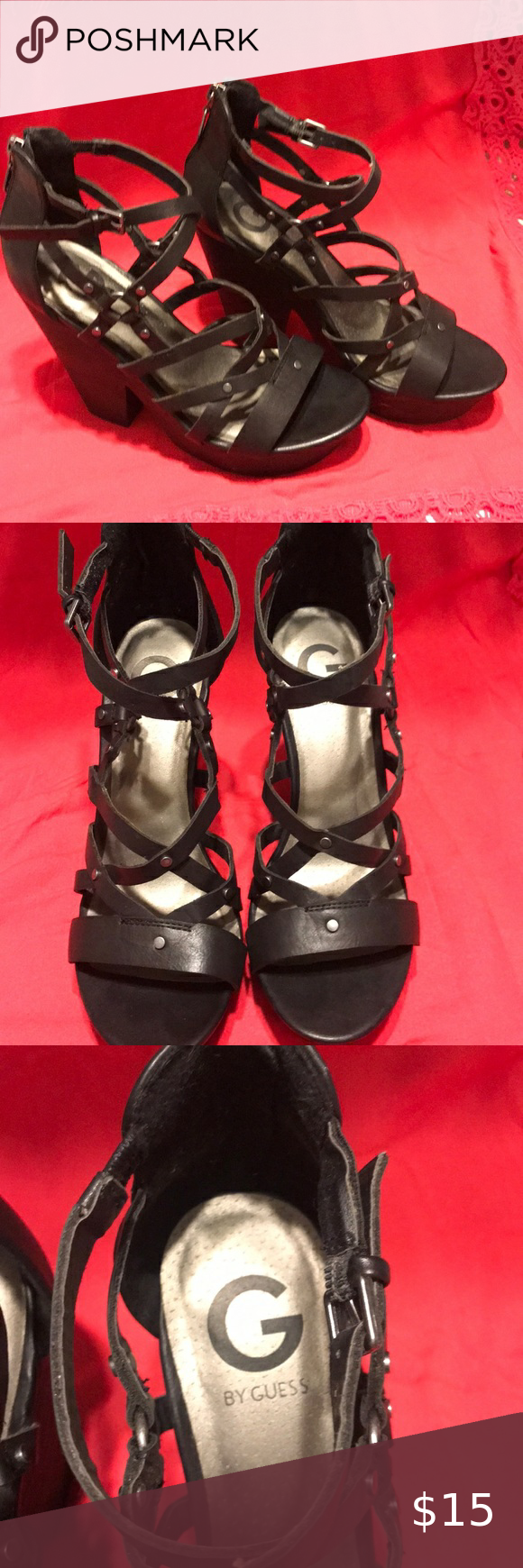 Guess Heels Like new, 5 inch Guess Shoes Heels #myposhpicks