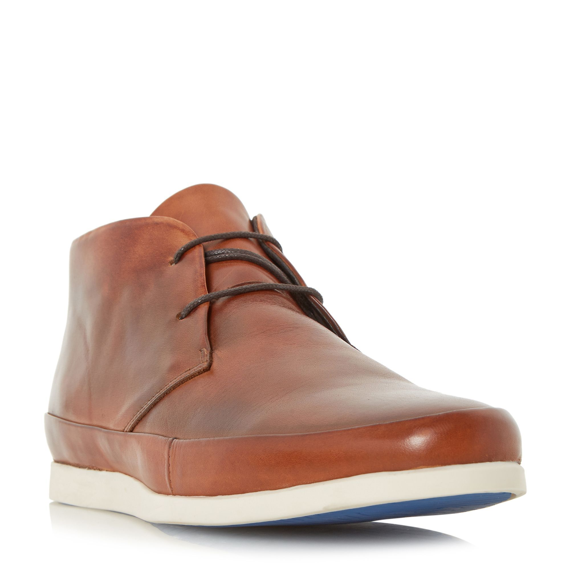 Bertie Clyde leather lace up boot, Tan · Leather Chukka BootsLeather ...