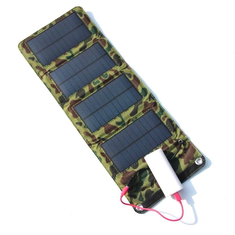 Buheshui High Quality 7w 5v Monocrystalline Solar Panel Charger Foldable Solar Cell Charger Solar Panel Charger Solar Battery Charger Cell Phone Charger