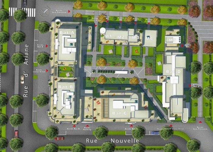 Plan de masse résidence Le Swing à Chessy 77 - DA Perspective