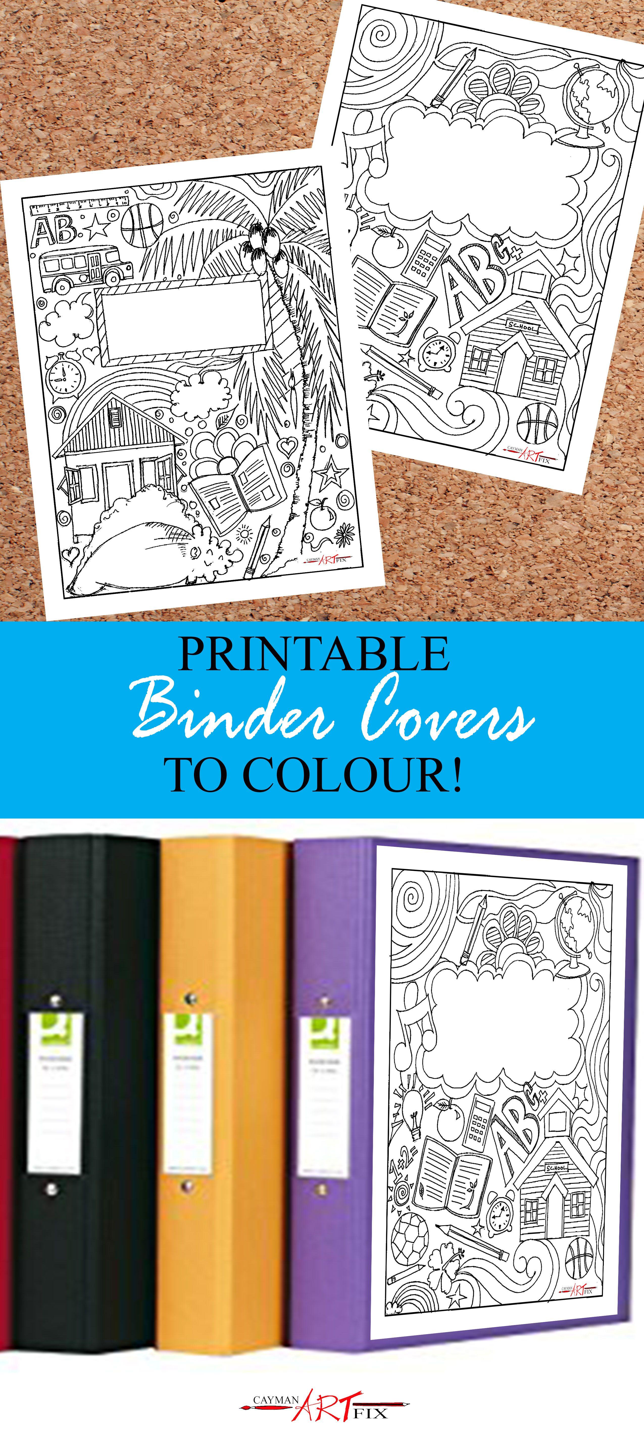 Printable Binder Covers for Back to School Fun | Printable binder ...