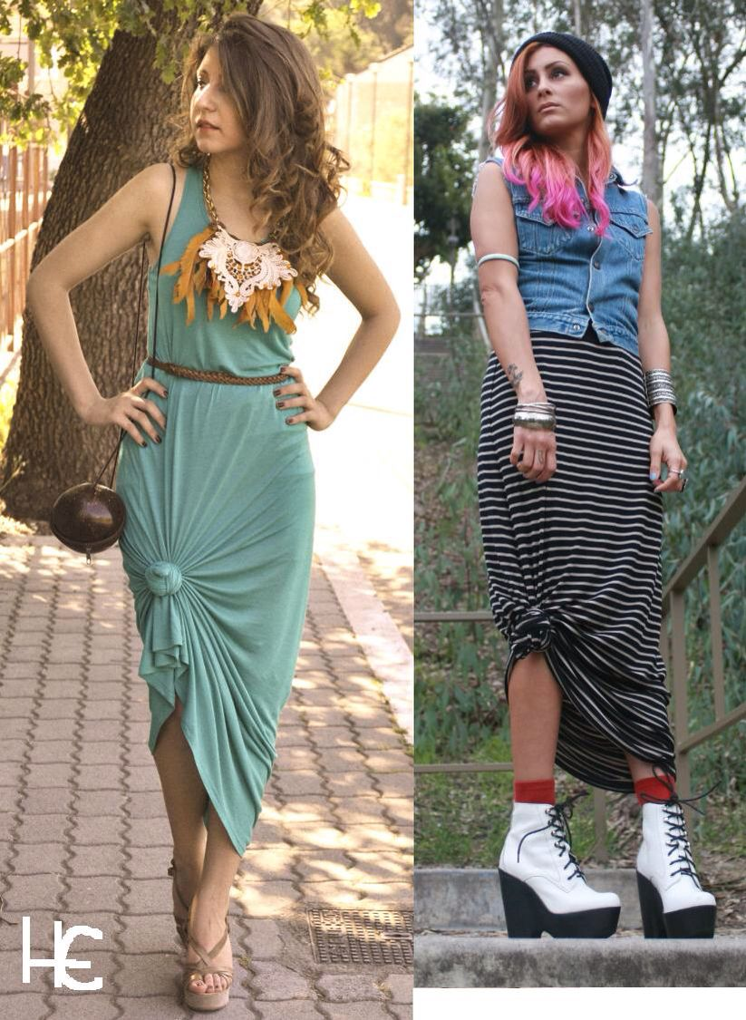 819b574f015 Cute way to tie up your maxi dress or skirt | Women's diy styles ...