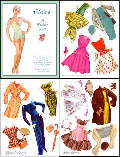 26a3d2c172a Paper Dolls Vintage Printable Free
