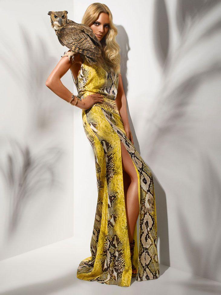Agilità Brazilian Fashion Yellow snakeskin dress
