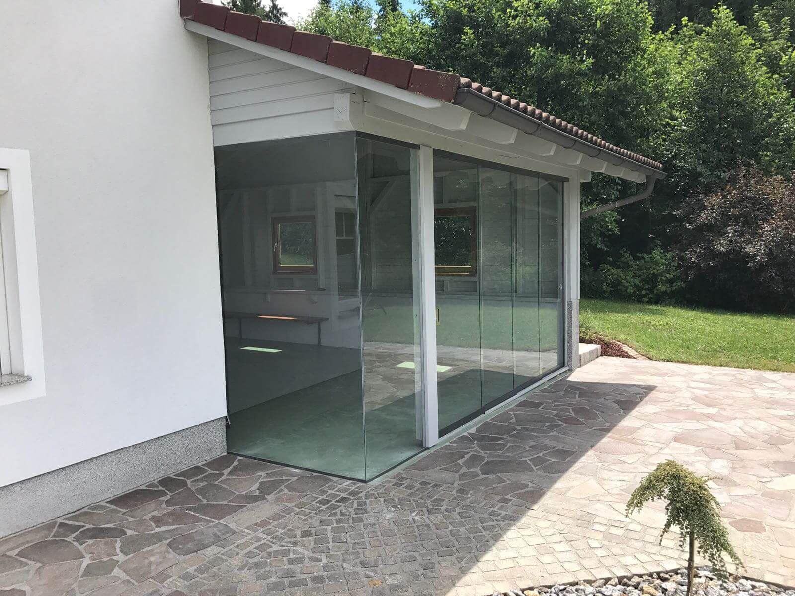 Schiebeelemente Glas Sommergarten Wintergarten Und Uberdachte