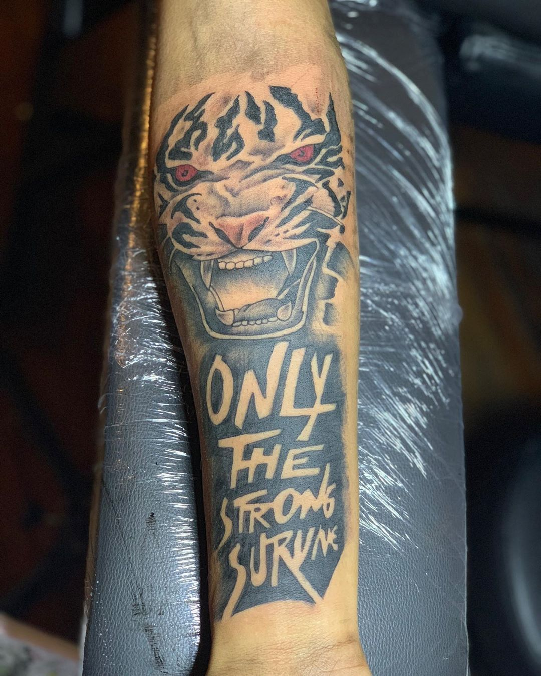 "Only The Strong Survive Tattoo Lion : strong, survive, tattoo, TattoosbyKev🔥, Instagram:, ""TATTOO, TODAY, ‼️, Strong, Survive, 🔥🔥, DOING, Tattoos, Sleeve,, Shoulder, Tattoo,, Chest, Tattoo"