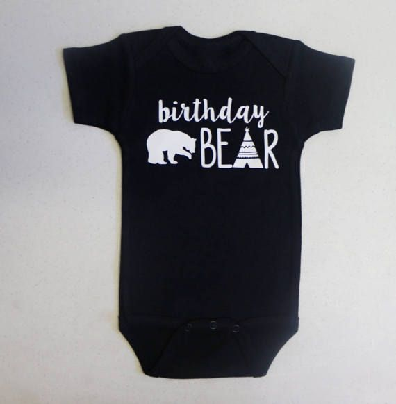 Baby Onesie Baby Boy Onesie Baby Boy Bodysuit Baby Bear Gift 1st Birthday Outfit Baby Bear Bodysuit Wild One Onesie \u00ae